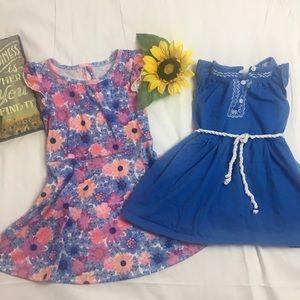 2T set of 2 little girl dresses
